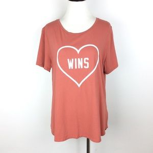 Old Navy Love Wins Coral Everywear T-Shirt Size L